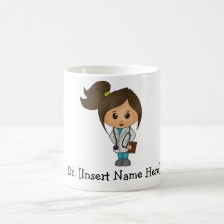 Doutor bonito personalizado Fêmea Canecas