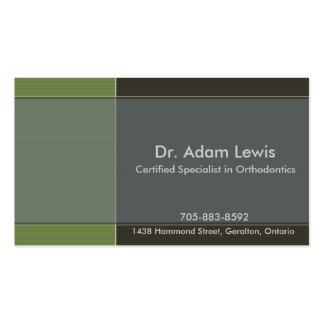 Doutor cartão de visita - Brown, azul, verde