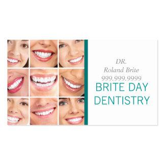 Doutor dental Dente Sorriso da odontologia do Modelo Cartões De Visita