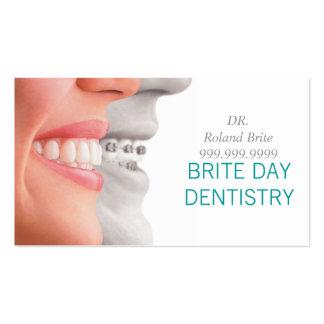Doutor dental Dente Sorriso da odontologia do dent Cartoes De Visita