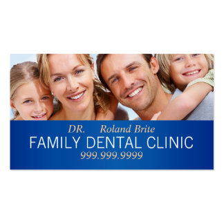 Doutor dental Dente Sorriso Família da odontologia Cartão De Visita