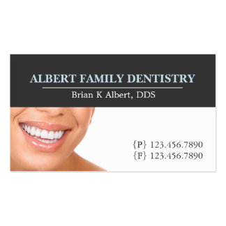 Doutor dental Sorriso Negócio da odontologia do Cartão De Visita