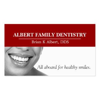 Doutor dental Sorriso Negócio da odontologia do de Modelo Cartões De Visitas