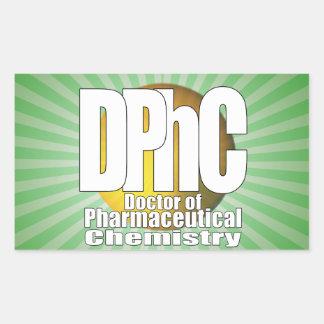 Doutor do LOGOTIPO de DPhC da química farmacêutica Adesivo Retangular