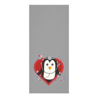 Doutor do pinguim com coração Zal28 10.16 X 22.86cm Panfleto
