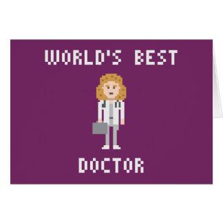 Doutor fêmea cartão da arte do pixel