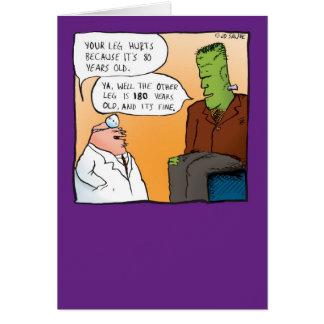 Doutor Obtenção Bem Logo Cartão de Frankensteins