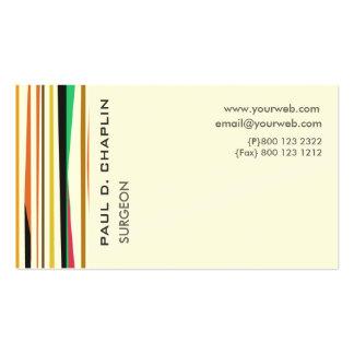 Doutor pediatra Nomeação das listras coloridas Cartão De Visita
