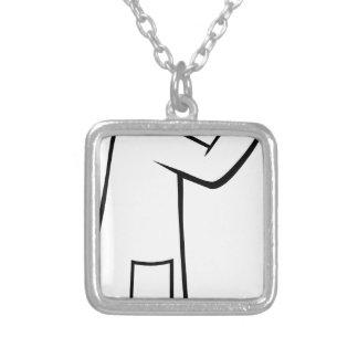Doutor personagem de desenho animado do colar com pendente quadrado