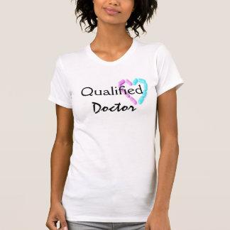 Doutor qualificado Vintage Branco Camisetas