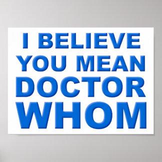 Doutor Quem Engraçado Poster Pôster