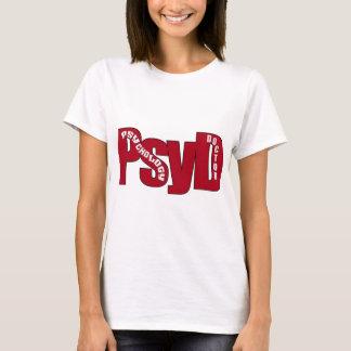 DOUTOR VERMELHO GRANDE PSICOLOGIA CORAJOSO de PsyD Camiseta