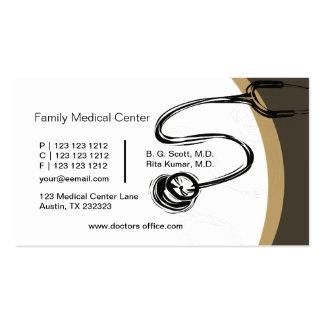 Doutores do estetoscópio do desenho - médicos cartão de visita