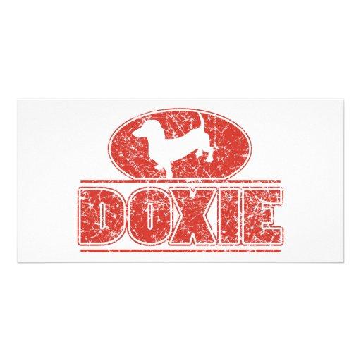 DOXIE-em-Círculo-Afligido Cartão Com Foto