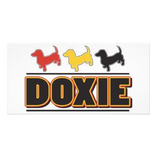 DOXIE-Palavra-COR Cartao Com Foto Personalizado