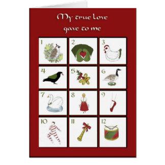 Doze dias do cartão de Natal