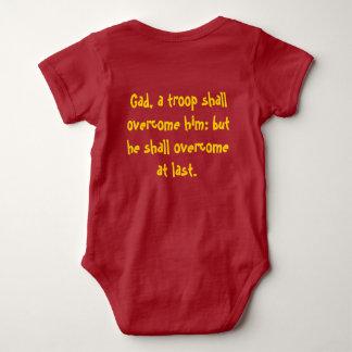 Doze tribos: Camisa do bebê do Gad