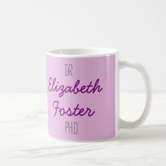 Dr. (seu nome) caneca da graduação do PhD