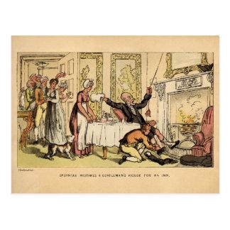 Dr. Sintaxe Erro a casa de um cavalheiro para uma Cartão Postal