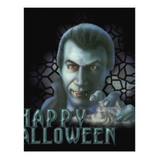 Dracula o Dia das Bruxas Panfleto Coloridos