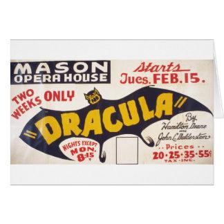Dracula por Hamilton Deane - 1938 Cartao