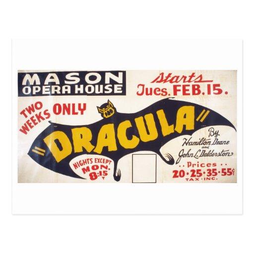 Dracula por Hamilton Deane - 1938 Cartoes Postais