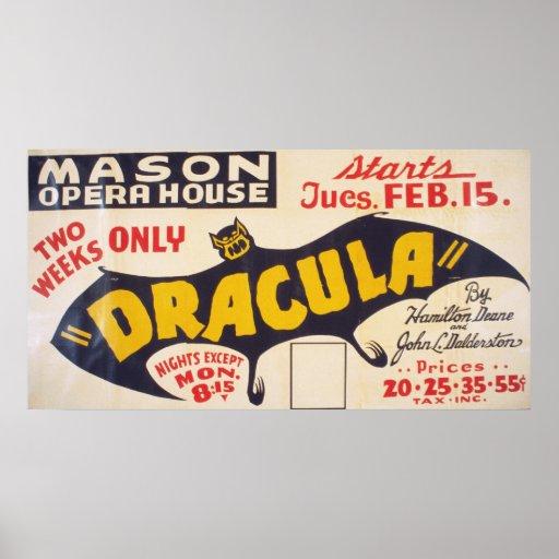Dracula por Hamilton Deane Poster