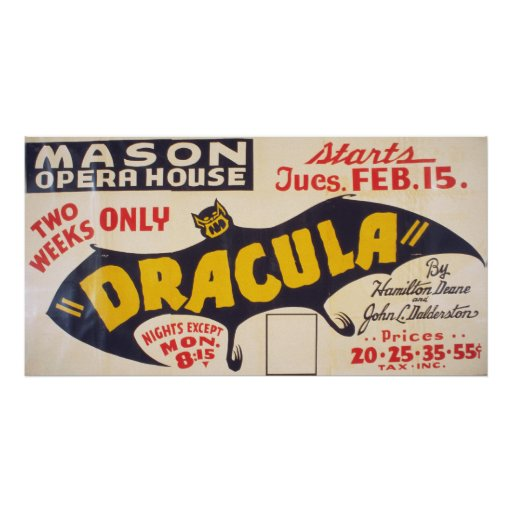 Dracula por Hamilton Deane Posteres