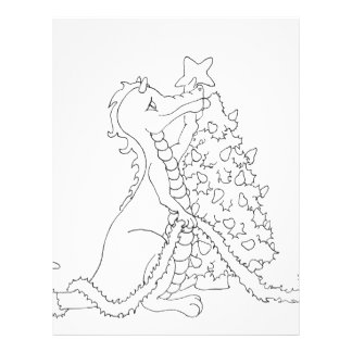 Dragão 2 do Natal Panfletos Coloridos