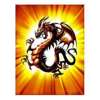 Dragão 3 cartão postal