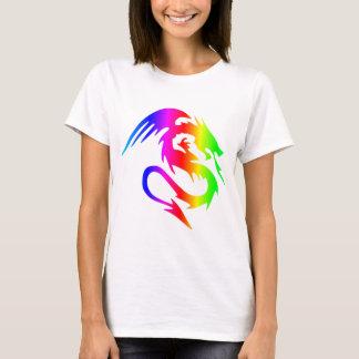 Dragão 4 do arco-íris camiseta