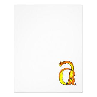 dragão a panfleto coloridos