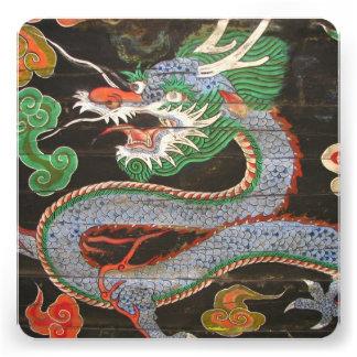 Dragão asiático do partido de comensal convite personalizado