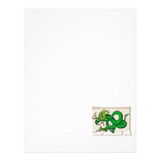 Dragão asiático do pergaminho panfleto coloridos