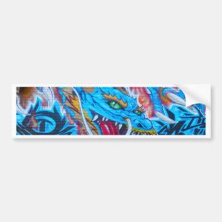 Dragão azul adesivo para carro