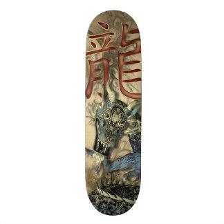 Dragão azul chinês shape de skate 20cm