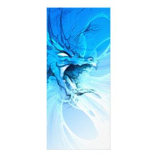 Dragão azul panfletos informativos