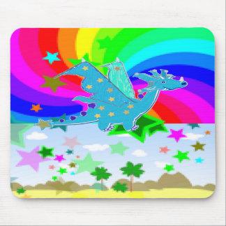 Dragão azul Pixelart dos desenhos animados Mousepad