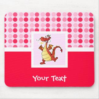 Dragão bonito dos desenhos animados mouse pads