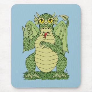 Dragão bonito mouse pad