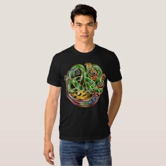 Dragão celta do nó da arte tshirt