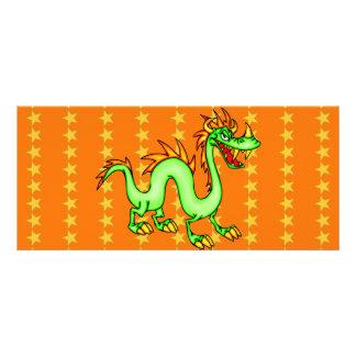 Dragão chinês considerável 10.16 x 22.86cm panfleto