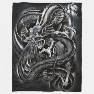 Dragão chinês da sombra cobertor de lã