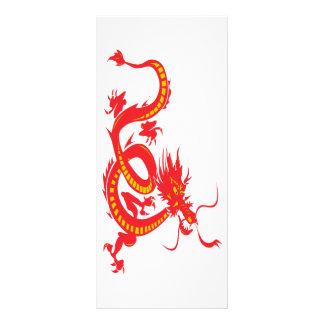 Dragão chinês do vermelho do ano novo 10.16 x 22.86cm panfleto