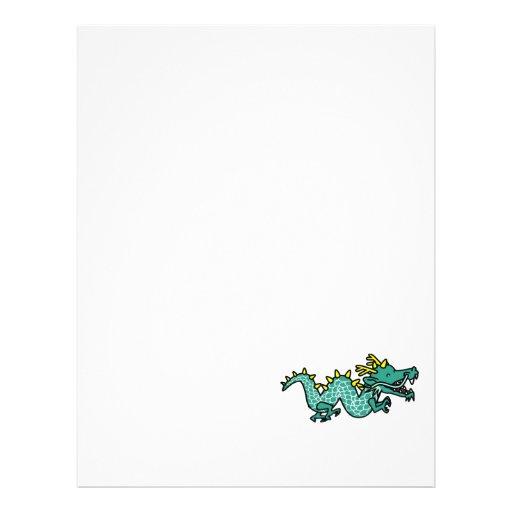 Dragão chinês panfleto coloridos