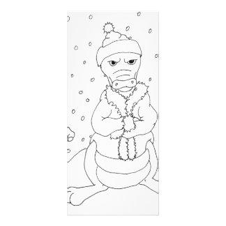Dragão congelado 10.16 x 22.86cm panfleto