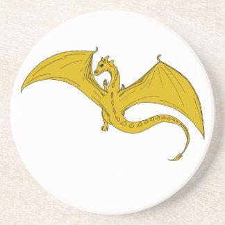 Dragão Coster do ouro por IDC Porta Copos De Arenito