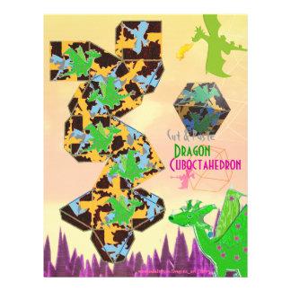 Dragão Cuboctahedron cortado & artesanato de dobra Papéis De Carta Personalizados