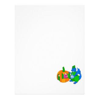 Dragão da abóbora panfleto coloridos