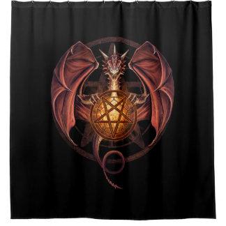 Dragão das bruxas cortina para chuveiro